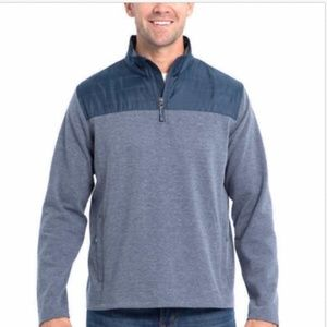 NWT Eddie Bauer Mixed Media Pullover 1/4 Zip Shirt